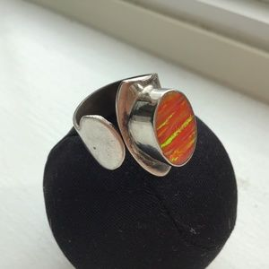 NWOT Fire Opal ring- Stamped 925.